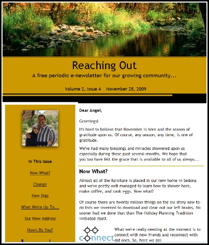 "e-newsletter ""Reaching Out"""