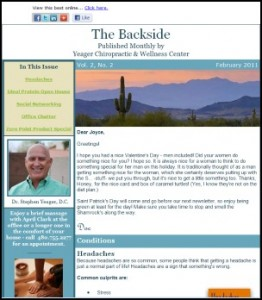 Yeager Chiropractic E-newsletter