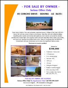 Flyer for my home for sale