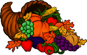 cornucopia at Thanksgiving
