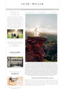 e-News Lear Miller Weddings